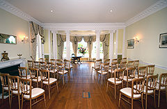 click to enlarge Civil ceremony room in main house